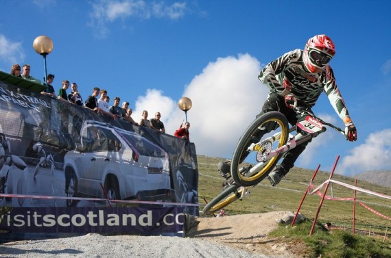 This photograph was taken at the Fort William Downhill Racing Championships and entered into a competition. I won First Prize of a Trek mountain bike worth £1500