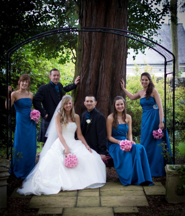Bridal Party at Woodlands Hotel, Broughty Ferry