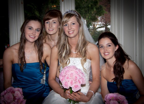 Bride and Bridesmaids at Woodlands Hotel, Broughty Ferry