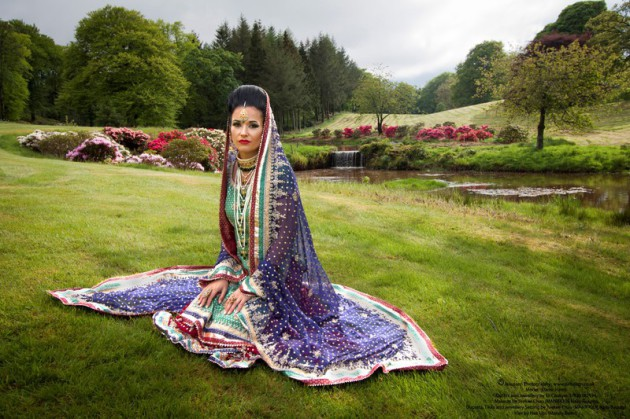 Asian Bride at Harburn House Country Estate in West Lothian