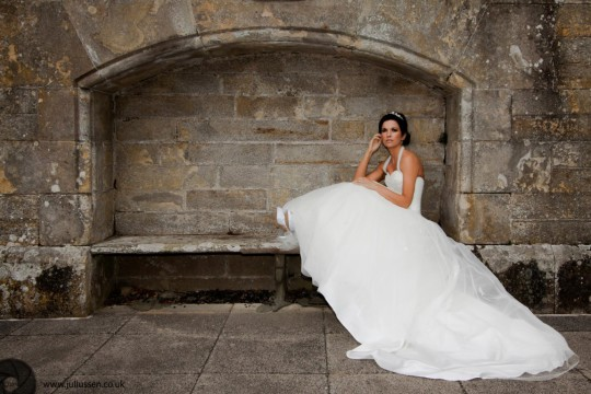 Dundee Wedding Photography Bride at Kinnettles Castle near Forfar with model Elaine Harris