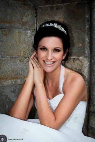 Beautiful Bride at Kinnettles Castle, Forfar