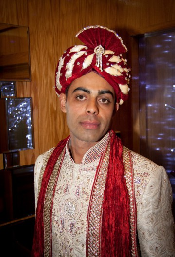 Asian Pakistan wedding bridegroom with turban