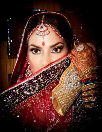 Asian pakistan bride wedding with amazing eyes
