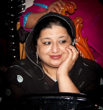 Asian mother-in-law at pakistan wedding