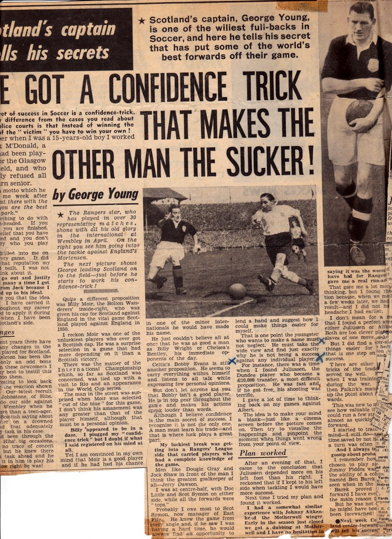 Scotland's captain, George Young gives some comments about Albert Juliussen