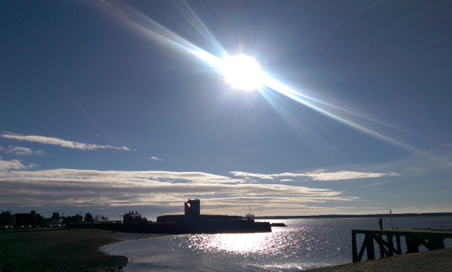 Solar eclipse over Broughty Ferry Castle, Dundee
