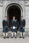 Groom and Best men at Ardverikie House Estate