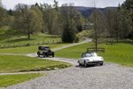 Wedding cars approaching Ardverikie house