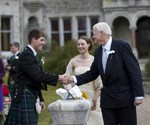 Groom and Bride's father at Ardverikie Estate