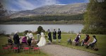 Bride and Groom and Best men at Ardverikie Estate