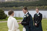Bride and Groom and Humanist ceremony