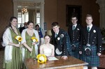 Bride and Groom signing the Register at Ardverikie Estate