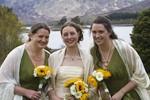 Bride and Bridesmaids at Ardverikie Estate wedding