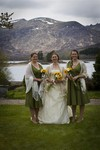 Bride and Bridesmaids at Ardverikie Estate wedding