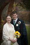 Bride and Groom at Ardverikie Estate wedding
