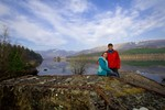 Couple at Ardverikie Estate before wedding