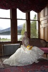 Bride in window at Ardverikie Estate