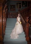 Bride on the stairs at Ardverikie Estate