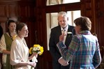 Bride and father at wedding at ardverikie estate
