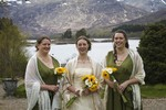 Bride and bridesmaids at wedding at Ardverikie estate