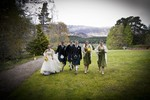Wedding party at Ardverikie estate