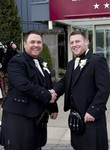 Groom and Best Man at Landmark Hotel Dundee