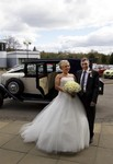 Bride and Father arriving at Landmark Hotel Dundee
