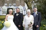 Bride and Groom and Parents at Landmark Hotel Dundee