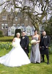 Bride and Groom with Best man and Bridesmaid at Landmark Hotel Dundee