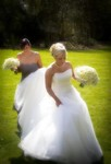 Shimmering Bride and Bridesmaid at Landmark Hotel Dundee