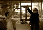 Bride and Groom at Invercarse Hotel, Dundee