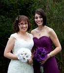 Bride and bridesmaid at Invercarse Hotel, Dundee