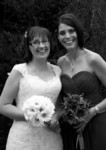 Bride and bridesmaid at Invercarse Hotel, Dundee