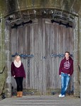Jodie and David at Broughty Castle