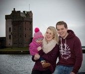 Jodie, David and Amelia at Broughty Castle