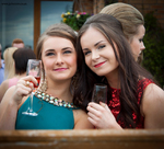 Girls of Monifieth High School at their graduation ball