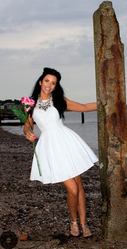 Fashion shoot for Tiger Lily Boutique, Broughty Ferry, with model Elaine Harris and makeup by Yeekee Chau Mua