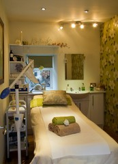 Treatment room at Simply Beautiful by Pauline King