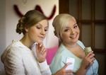 Bride and Bridesmaids getting ready at home - Dundee Wedding Photography