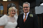 Bride and Father at Forbes of Kingennie - Dundee wedding photography