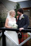 Bride and Groom at Forbes of Kingennie - Dundee wedding photography