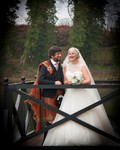 Bride and Groom at Forbes of Kingennie Dundee wedding photography