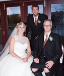 Bride and father at Forbes of Kingennie