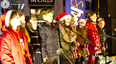 The crowds enjoy themselves at the Broughty Ferry Christmas Lights Switch-on