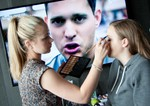 Michael Buble paid a visit during the makeup session at the Photoshoot at the Malmaison Hotel, Dundee