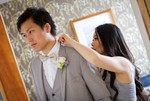 Sitang and Dan were married and had a reception at the Apex Hotel, Dundee