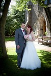Bride and Groom at New Kirk, Broughty Ferry, Dundee