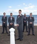 Bridal party at Broughty Ferry Beach, Dundee