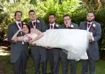 Bridal party at the Woodlands Hotel, Barnhill, Broughty Ferry